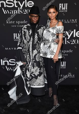 Law Roach, Zendaya. Law Roach, left, and Zendaya arrive at the 5th annual InStyle Awards, at the Getty Center in Los Angeles