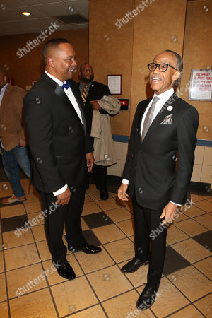 Deon Taylor and Reverend Al Sharpton
