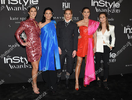 Carli Lloyd, Ali Krieger, Ashlyn Harris, Alex Morgan and Kelley O'Hara