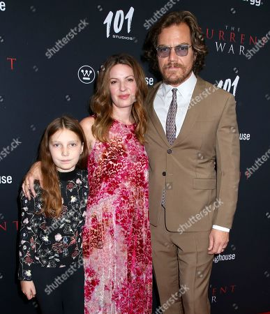 Stock Image of Michael Shannon, Kate Arrington and daughter Marion Shannon
