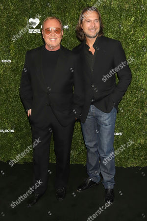 Michael Kors, Lance LePere. Michael Kors, left, and Lance LePere attend the God's Love We Deliver Golden Heart Awards at Cipriani South Street, in New York