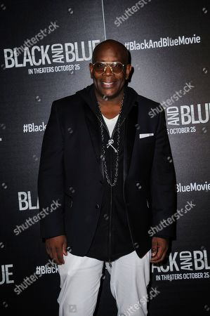 """James Moses Black attends the special screening of """"Black and Blue,"""" hosted by Screen Gems and The Cinema Society, at the Regal E-Walk, in New York"""