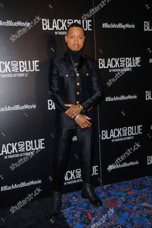 """Terrence J attends the special screening of """"Black and Blue,"""" hosted by Screen Gems and The Cinema Society, at the Regal E-Walk, in New York"""