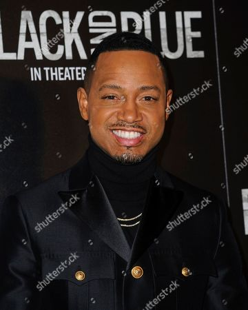 """Terrence J attends the special screening of """"Black and Blue"""", hosted by Screen Gems and The Cinema Society, at the Regal E-Walk, in New York"""