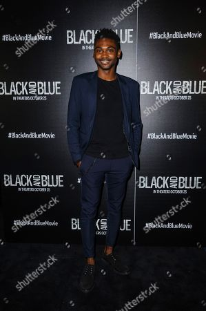 """Stock Image of Frankie Smith attends the special screening of """"Black and Blue,"""" hosted by Screen Gems and The Cinema Society, at the Regal E-Walk, in New York"""