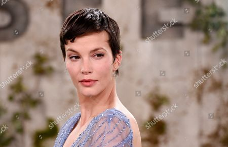 """Sylvia Hoeks, a cast member in the Apple TV+ series """"See,"""" poses at the premiere at the Regency Village Theatre, in Los Angeles"""