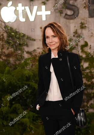 """Stock Picture of Jessica Harper, a cast member in the Apple TV+ series """"See,"""" poses at the premiere at the Regency Village Theatre, in Los Angeles"""