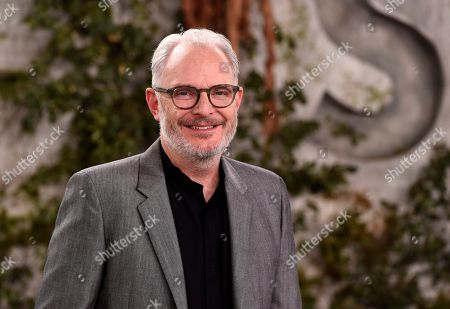 """Francis Lawrence, executive producer/director of the Apple TV+ series """"See,"""" poses at the premiere at the Regency Village Theatre, in Los Angeles"""