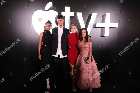 """Nesta Cooper, Archie Madekwe, Hera Hilmar and Yadira Guevara-Prip at the """"See"""" Apple TV+ World Premiere Event at the Regency Village Theater in Los Angeles, California."""