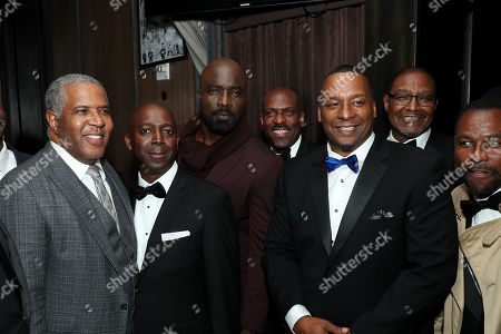 Robert F. Smith (L), Mike. Colter (C), Deon Taylor (Director)(R) with Guest