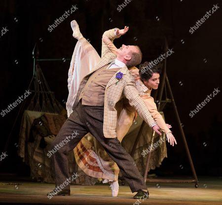 Stock Image of Christopher Saunders as Elga, Laura Morera as Lady Elgar
