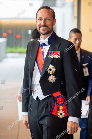 Crown Prince Haakon of Norway attend the Accession to the Throne of His Majesty the Emperor of Japan Naruhito, at the Imperial Palace in Tokyo, Japan.