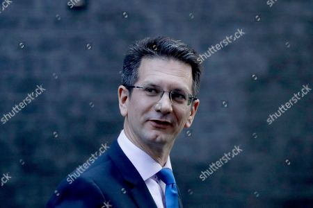 British Conservative Party Member of Parliament and Chairman of the European Research Group (ERG) Steve Baker leaves after a cabinet meeting at 10 Downing Street in London, . British Prime Minister Boris Johnson's European Union divorce bill faces two votes Tuesday, with lawmakers first being asked to approve it in principle, followed by a vote on the government's schedule for debate and possible amendments
