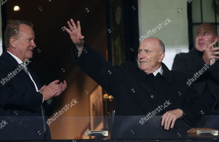 George Cohen MBE (1966 World Cup Winner) celebrates his 80th birthday at Fulham and waves to the crowd at half time