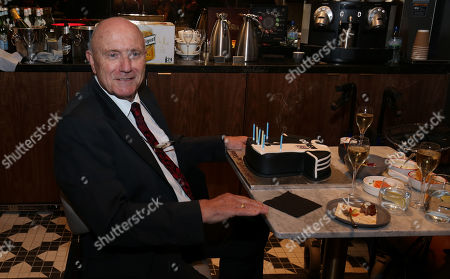 George Cohen MBE (1966 World Cup Winner) celebrates his 80th birthday with a cake at Fulham