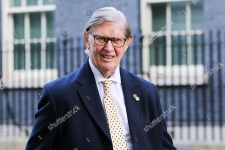 Member of European Research Group (ERG) Sir Bill Cash departs from No 10 Downing Street