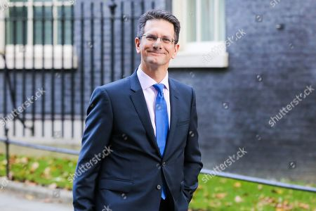 Member of European Research Group (ERG) Steve Baker departs from No 10 Downing Street