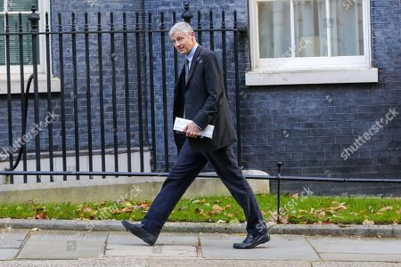 Stock Image of Minister of State for Environment, Food and Rural Affairs and Department for International Development Zac Goldsmith arrives in Downing Street to attend the weekly cabinet meeting.