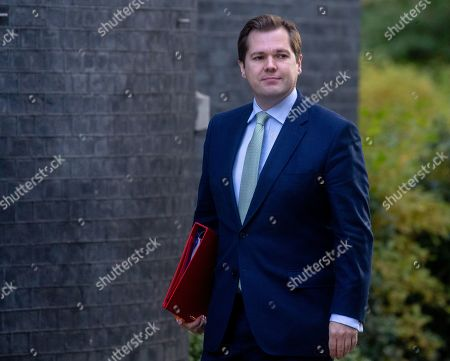 Robert Jenrick, Secretary of State for Housing, Communities and Local Government,  arrives at Downing Street for the Cabinet meeting.