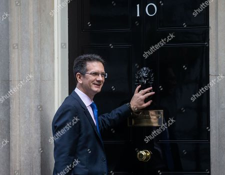 Steve Baker, Chairman of The European Research Group, arriving at 10 Downing Street.