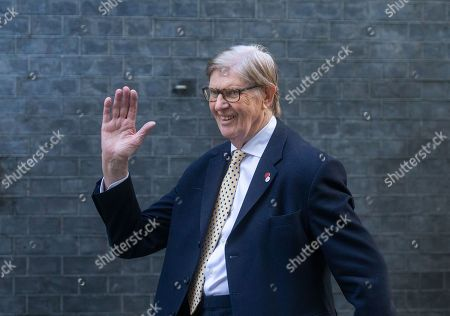 Bill Cash, a member of the ERG, arriving at Downing Street.