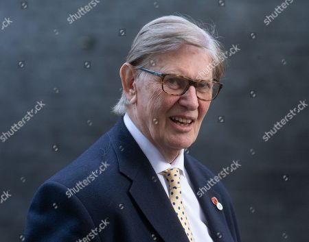Bill Cash, a Member of the ERG, leaves Downing Street after the Cabinet meeting.