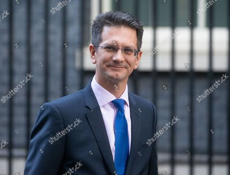 Steve Baker, Chairman of The European Research Group, leaves 10 Downing Street.