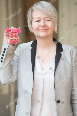 Author Sarah Waters, is awarded an OBE for services to Literature at Buckingham Palace