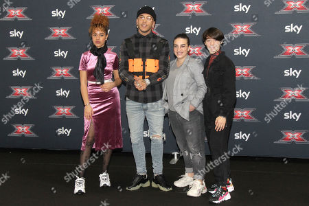 Mariam Rouass, Sfera Ebbasta, Giordana Petralia and Sofia Tornambene aka Kimono from the Under Under Team