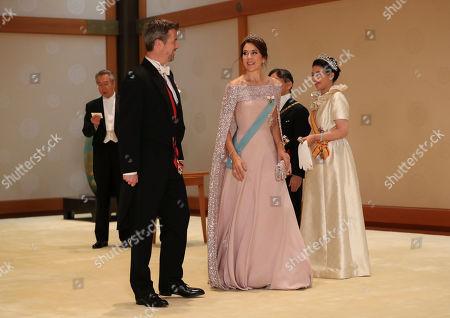 Crown Prince Frederik, Crown Princess Mary, Emperor Naruhito and Empress Masako