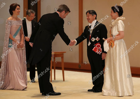 Crown Princess Mary, Crown Prince Frederik, Emperor Naruhito and Empress Masako
