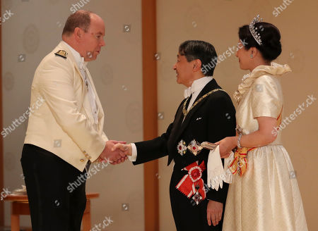 Prince Albert II, Emperor Naruhito and Empress Masako