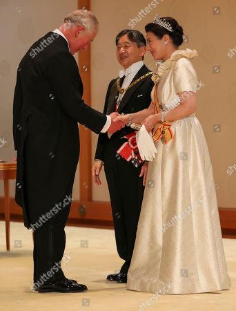 Prince Charles, Emperor Naruhito and Empress Masako