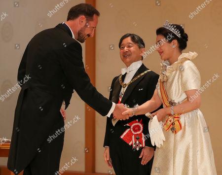 Crown Prince Haakon, Emperor Naruhito and Empress Masako