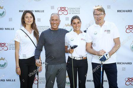 Stock Image of Riccardo Grande Stevens, Mika Hakkinen, Giulia Gandini