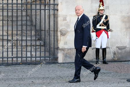 Jacques Toubon arrives at the Saint-Sulpice church