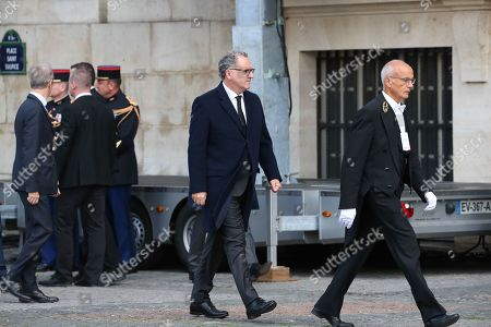 President of French National Assembly Richard Ferrand errives at the Saint-Sulpice church