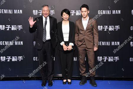 Ang Lee, Jane Lin and Mason Lee
