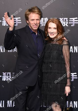 Stock Image of Jerry Bruckheimer and Linda Bruckheimer