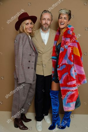 Stock Picture of Stephanie Simon, Alasdhair Willis and guest in the front row