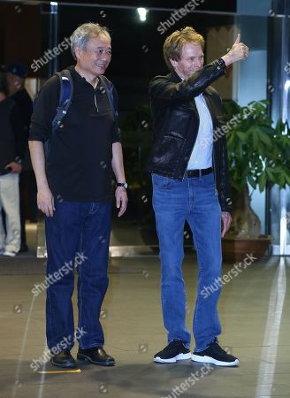 Ang Lee and Jerry Bruckheimer arrive in Taipei to promote 'Gemini Man'