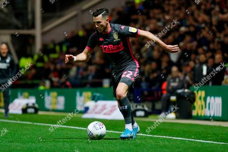 Stock Picture of Leeds United midfielder Jack Harrison (22), on loan from Manchester City,  during the EFL Sky Bet Championship match between Preston North End and Leeds United at Deepdale, Preston