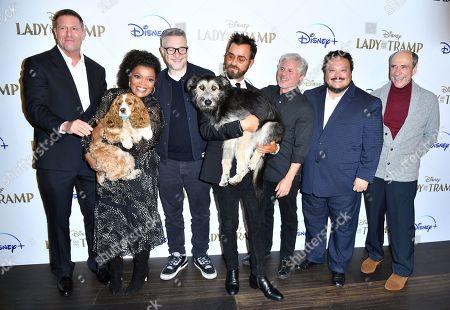 Stock Photo of Jason Burkey, Yvette Nicole Brown, Charlie Bean, Justin Theroux, Brigham Taylor, Adrian Martinez, F. Murray Abraham and dogs