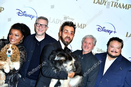 Yvette Nicole Brown, Charlie Bean, Justin Theroux, Brigham Taylor, Adrian Martinez and dogs