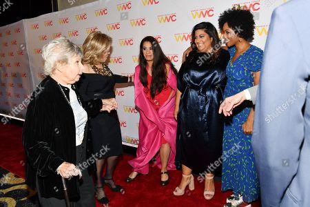 Stock Picture of Robin Morgan, Pat Mitchell, Maysoon Zayid, Samhita Mukhopadhyay and Zerlina Maxwell
