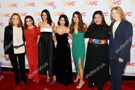 Gloria Steinem, Eva Longoria, Olga Segura, Diane Guerrero, Alex Martinez Kondracke, Monica Ramirez and Julie Burton