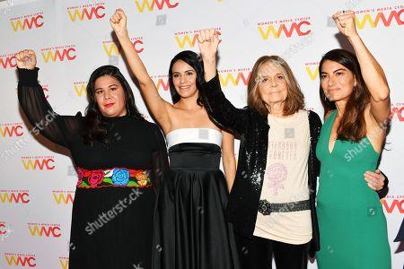 Monica Ramirez, Olga Segura, Gloria Steinem, and Alex Martinez Kondracke