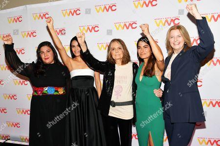Monica Ramirez, Olga Segura, Gloria Steinem, Alex Martinez Kondracke and Julie Burton