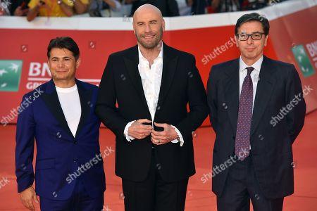 Oscar Generale, John Travolta and Antonio Monda