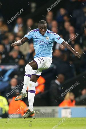 Manchester City defender Benjamin Mendy (22) during the Champions League match between Manchester City and Atalanta at the Etihad Stadium, Manchester